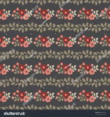 seamless folk pattern small wild flowers stock vector 682992937