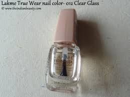 lakme true wear nail color 012 clear glass top coat the indian