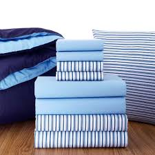 oxford stripe sheets light blue sheets and navy comforter find