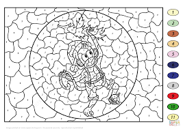 christmas monkey color number free printable coloring pages