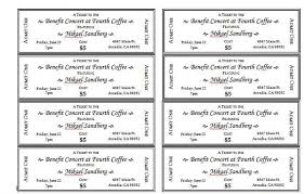 raffle ticket template 1 positively printable pinterest