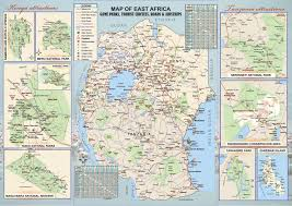 Map Of East Africa by Adventure Holidays Company A Kenya Tour And Safari Operator And