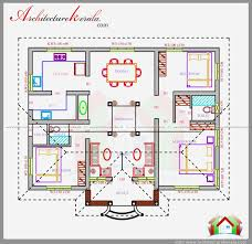 servants quarters house plans three bedrooms in square feet kerala