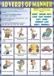 adverbs of manner interactive worksheets