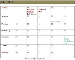 may 2012 calendar template calendar template