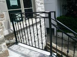 simple outdoor stair railing ideas exterior wrought iron railings