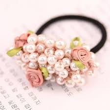 flower bands hair accessories rustic small fresh flower beaded pearl