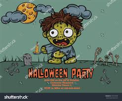 Cute Halloween Monsters by Halloween Cute Monster Party Poster Bubonic Stock Vector 164416940