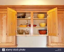 open kitchen cabinets open kitchen cabinet stock photo alamy