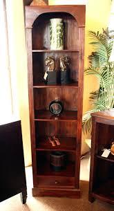 bookcase tall narrow shelves with doors tvilum fairfax tall
