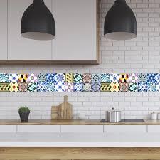 tile decals for kitchen backsplash portugal tiles stickers wels set of 16 tile decals for
