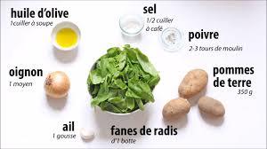 cuisiner les fanes de radis recette soupe aux fanes de radis