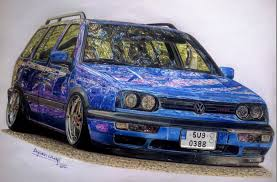 volkswagen drawing my most detailed car drawing from