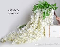 white garland best white artificial silk hydrangea flower wisteria
