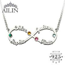 necklace store names images Buy ailin silver infinity 4 names necklace with jpg