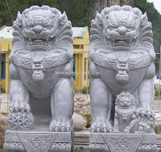 lion dog statue fu dog used in front of official buildings for scaring the