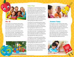 daycare brochure template child care brochure sles fieldstation co