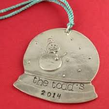 personalized pewter bulb ornament window
