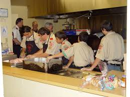 boy scouts helping salvation army dameron communications