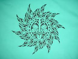 polynesian sun design surf sup fit tatoos