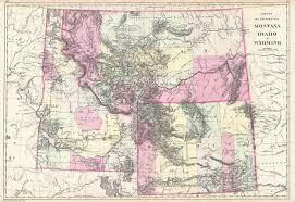 Map Montana File 1884 Bradley Map Of Montana Wyoming And Idaho Geographicus