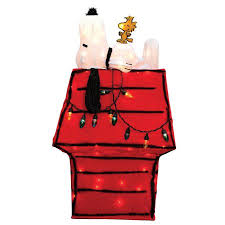 snoopy doghouse christmas decoration 35 pre lit peanuts snoopy woodstock dog house christmas yard