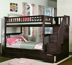 impressive pink bunk beds with stairs beautiful home remodeling