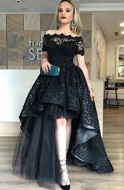 evening gown vintage lace weddings guest dress black evening gown bateau neck
