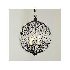 Wrought Iron Mini Pendant Lights Retro Industrial Black Cage Pendant Light Wrought Iron Hanging