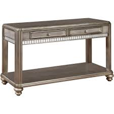 Sofa Tables With Drawers by Metallic Platinum Sofa Table