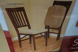 Wood Folding Chairs Costco Sale Stakmore Solid Wood Folding Chair 24 99 Frugal Hotspot