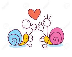 imagenes animadas sobre amor caracoles en ilustración de dibujos animados del amor ilustraciones