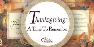 thanksgiving a time to remember of wisdom homeschool