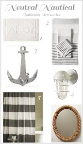 Ocean Bathroom Decor by Best 25 Nautical Bathroom Accessories Ideas On Pinterest Beach
