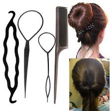 bun accessories 4 pcs set styling clip bun maker hair twist braid ponytail tool