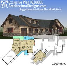 mountain architecture floor plans plan 18288be rugged mountain house plan with options craftsman