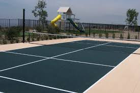 Backyard Tennis Courts Outdoor Basketball Court Flooring Cost Home Outdoor Decoration
