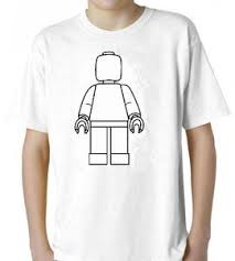party pack 12 lego man colorable kids shirt includes fabric