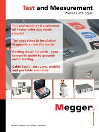 megger test and measurments power catalogue capacitor transformer