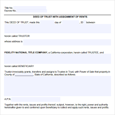 deed of trust form living trust form living will directive