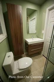 buy 31 5 in wall mount contemporary bathroom vanity set in walnut