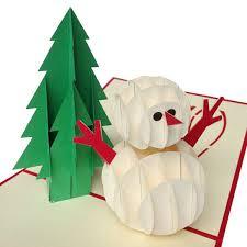 3d Invitation Card 3d Handmade Christmas Greeting Card Snowman Pop Up Invitation Card