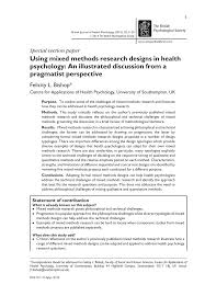 how to write a methods section for a research paper using mixed methods research designs in health psychology an using mixed methods research designs in health psychology an illustrated discussion from a pragmatist perspective pdf download available