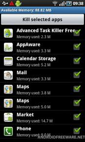 android task killer task killer 2011 free android app android freeware