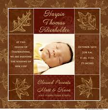 thanksgiving birth announcement fall photo style newborn