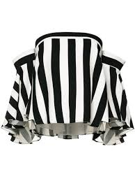 black and white striped blouse milly shoulders striped blouse black white clothing