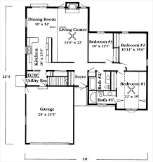 corsica ii home plan 3 bedroom 2 bathroom 1 600 sq ft ranch