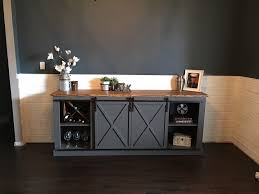 the diy sliding barn door ideas for you to use cool console