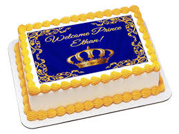 prince baby shower cakes royal prince edible baby shower cake topper baby shower cake