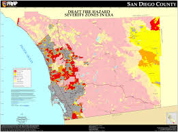 Zone Map Usa by Cal Fire San Diego County Fhsz Map